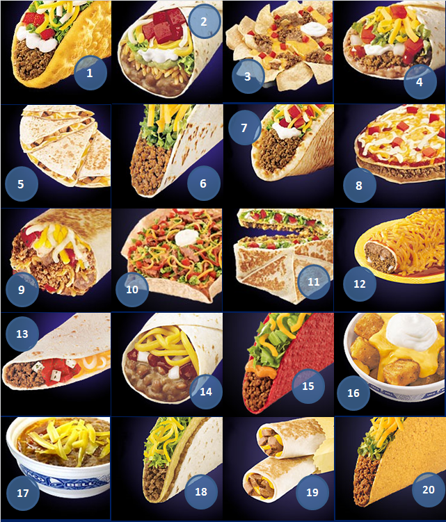 photo relating to Taco Bell Printable Menu referred to as TACO Evening!!!!!!!!!! Can on your own track record the Taco Bell menu merchandise