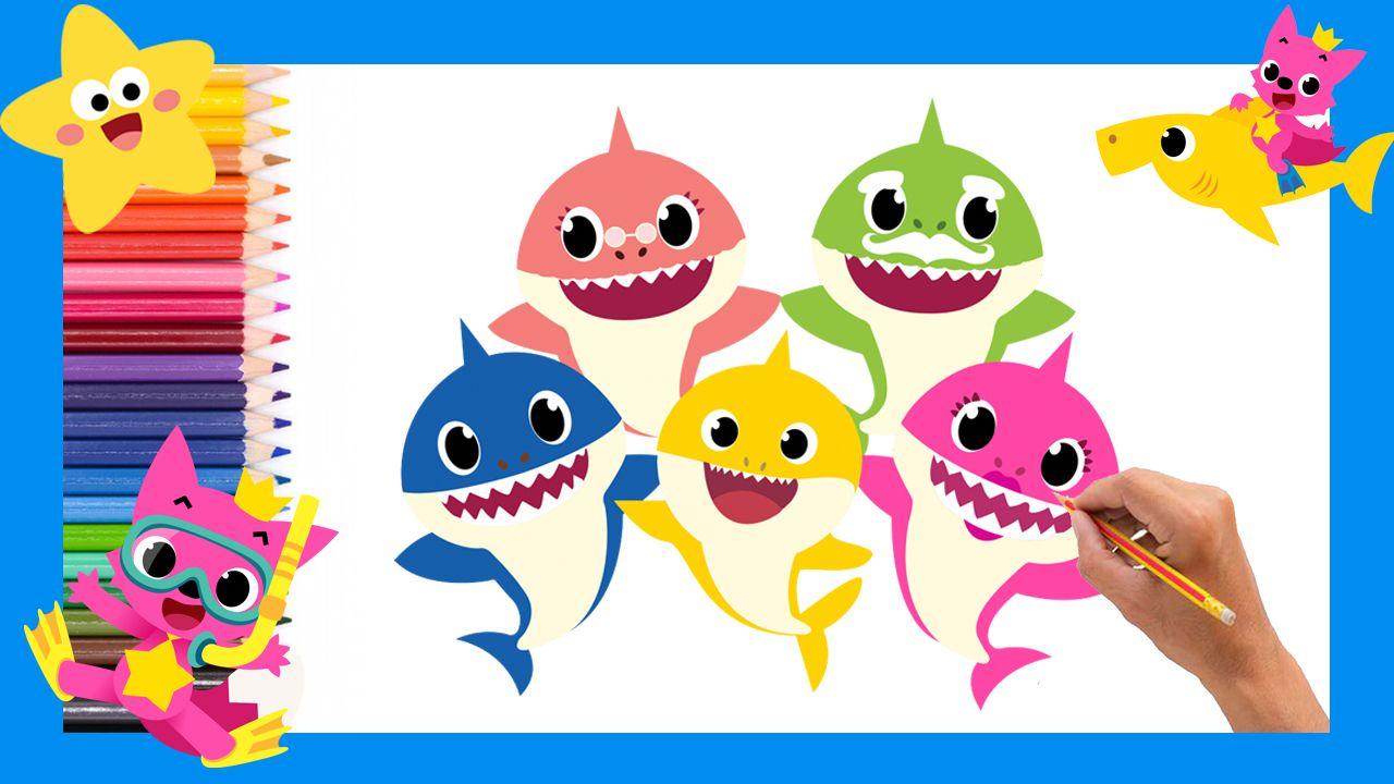 Como Dibujar Un Baby Shark Paso A Paso Para Ninos Facil How To Draw Baby Shark Easy Dibujo De Bebe Como Dibujar Dibujos Infantiles