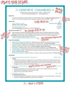Taking The Plunge Revamping The Resume For Interior Design With