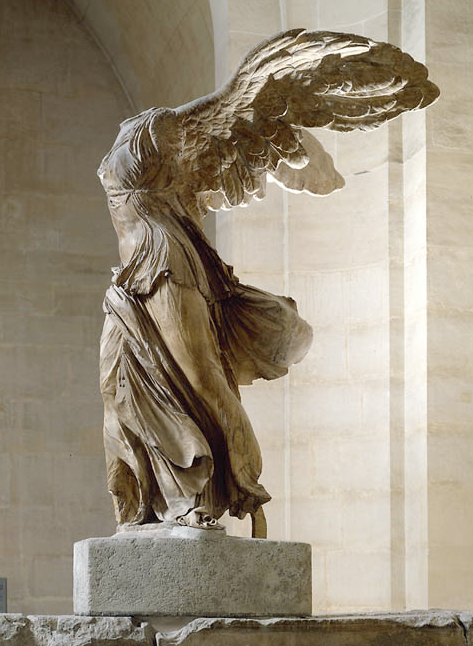 Has anyone noticed that Nike statues are always headless? of Victory! Winged  Victory (Nike) of Samothrace, Greek statue (marble), century BC (Musée du  ...