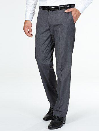 Pantalón de traje corte recto gris oscuro Hombre  00e5a79e98d
