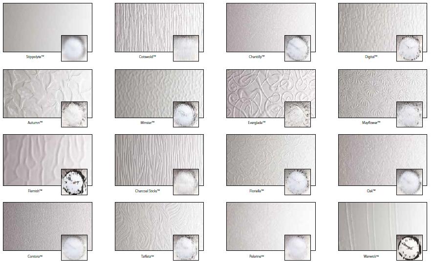 Genuine Pilkington Glass Patterns Backing Glass