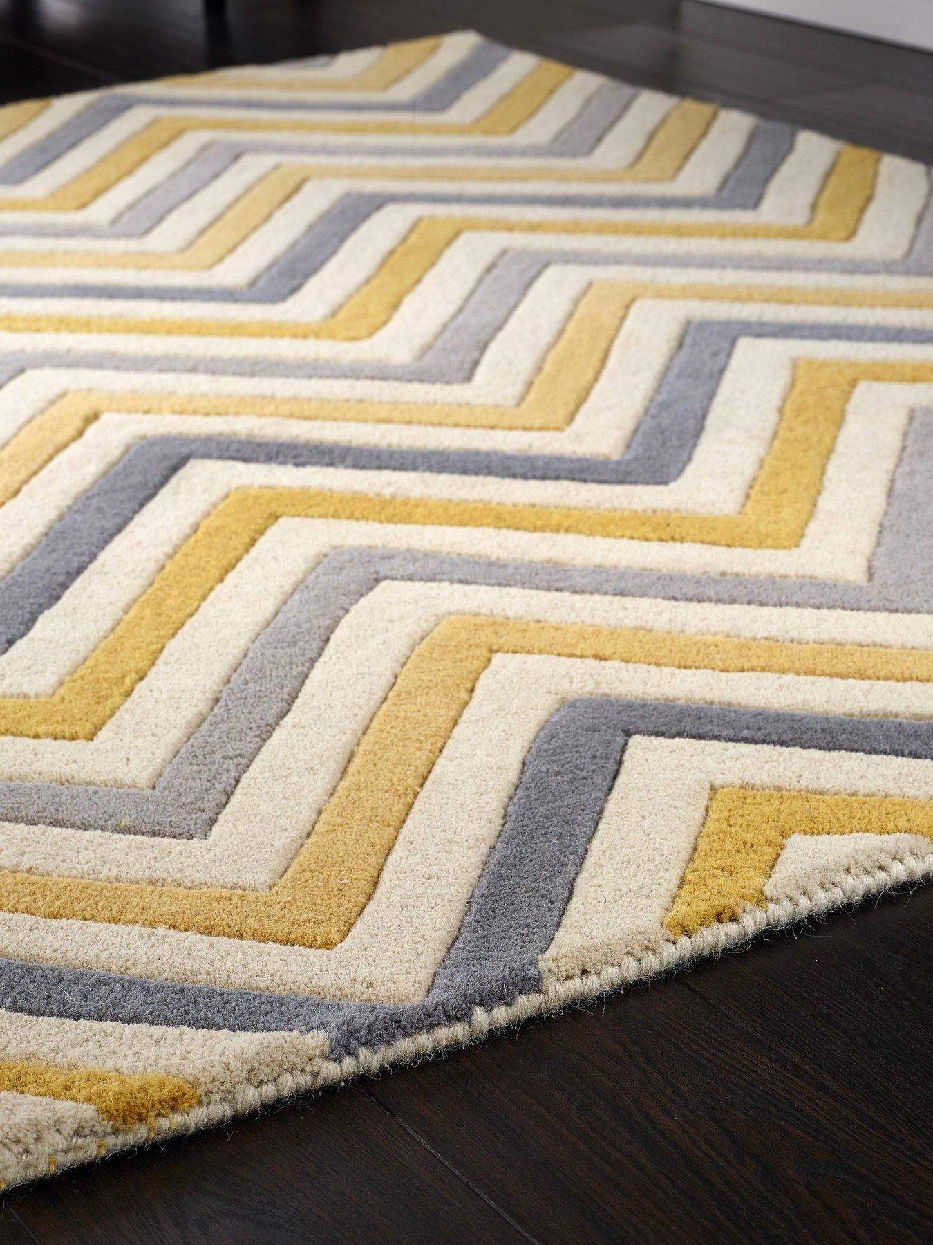 Mia Pure Wool Rug Yellow 160x230cm