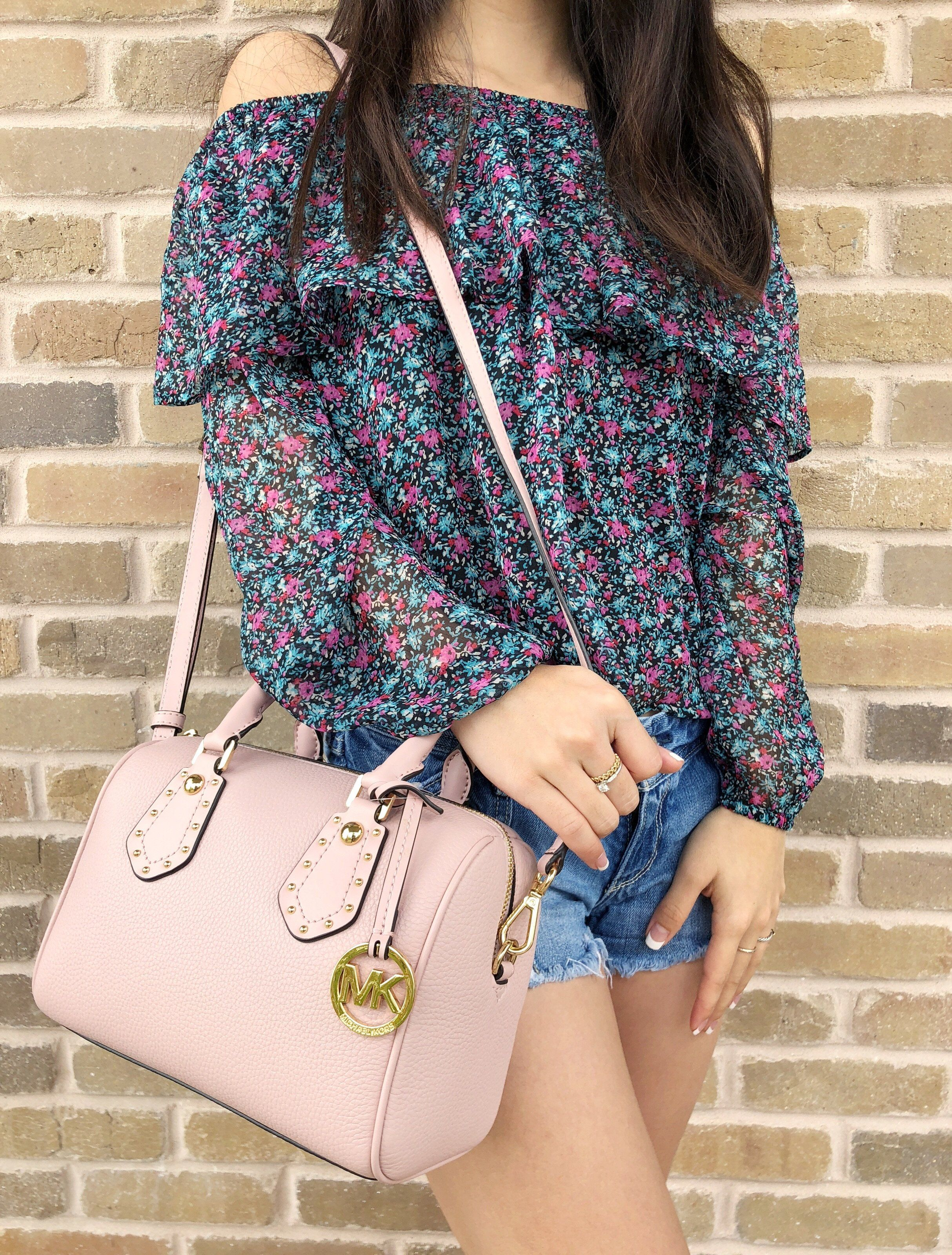 7ec023af471a Michael Kors Aria Small Top Zip Satchel Crossbody Blossom Pink Pebble  Grayson #amazondeals #ebaybusiness #amazonfashion #ebaystore #Handbags #top  #amazon ...