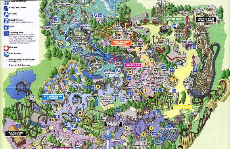 California's Great America - 2007 Park Map