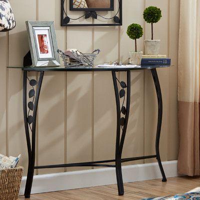 Andover Mills Fletcher Console Table u0026 Mirror Set & Andover Mills Fletcher Console Table u0026 Mirror Set | Mirror set ...