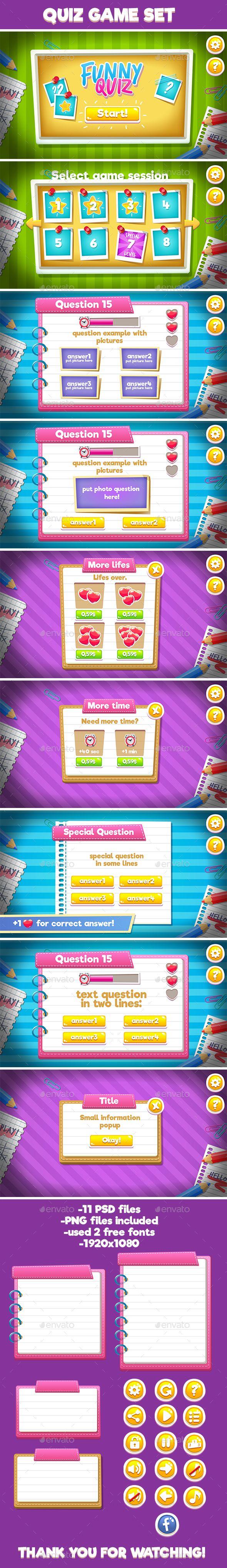 Quiz Full Game Set - User Interfaces Game Assets