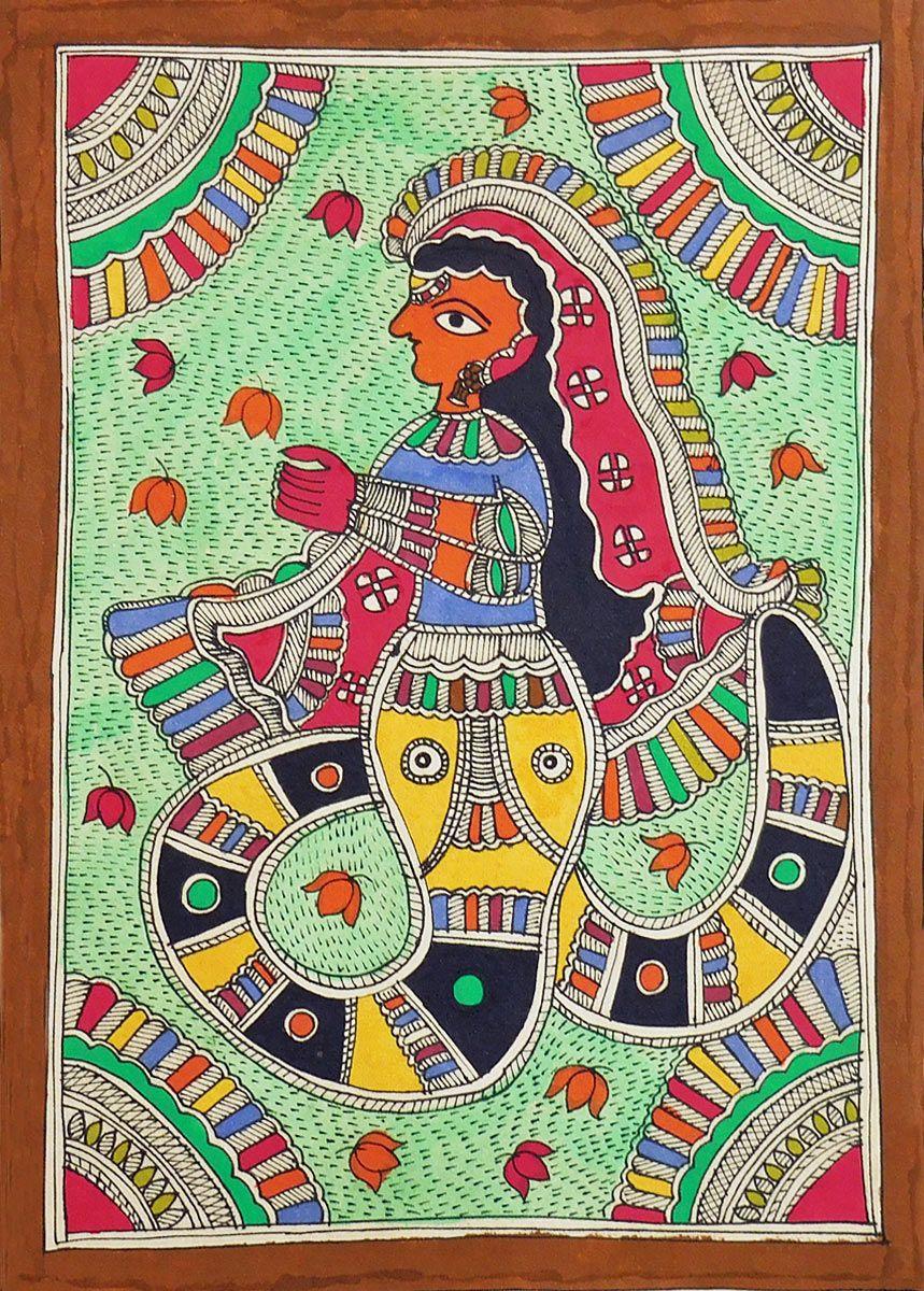 Nag Kanya (Madhubani Folk Art on Paper - Unframed)