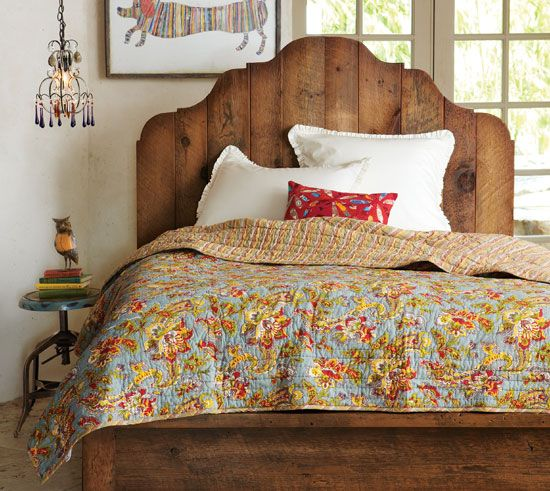 Antiqued Pine Provence Bed - Shop By Room