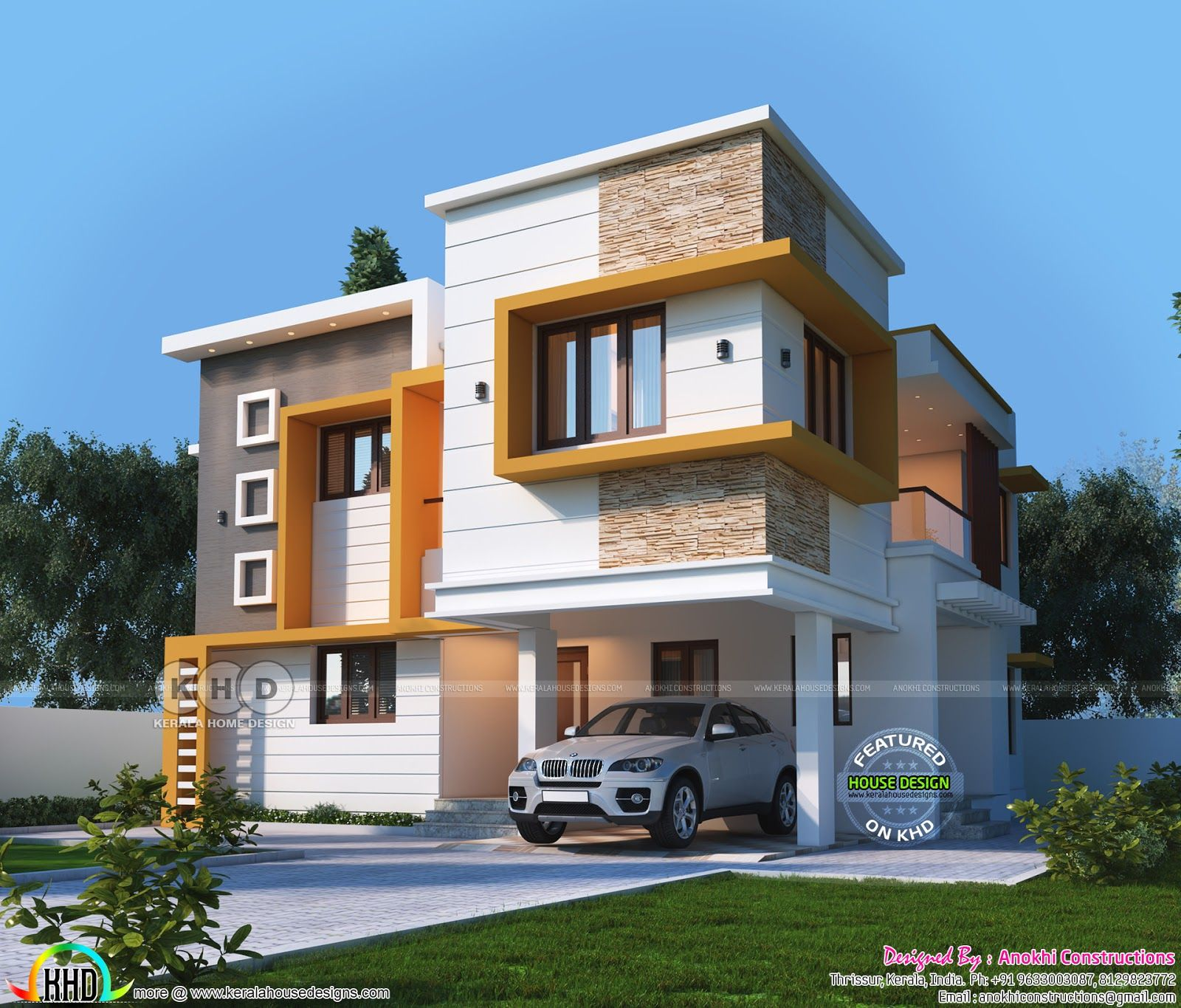 2280 space saving duplex villa plan villa plan duplex on small modern home plans design for financial savings id=85428