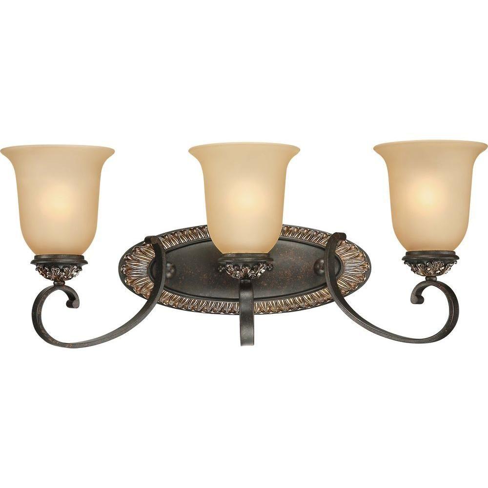 Volume Lighting Bristol 3Light Vintage Bronze And Antique Gold Fascinating Vintage Bathroom Vanity Lights Inspiration Design