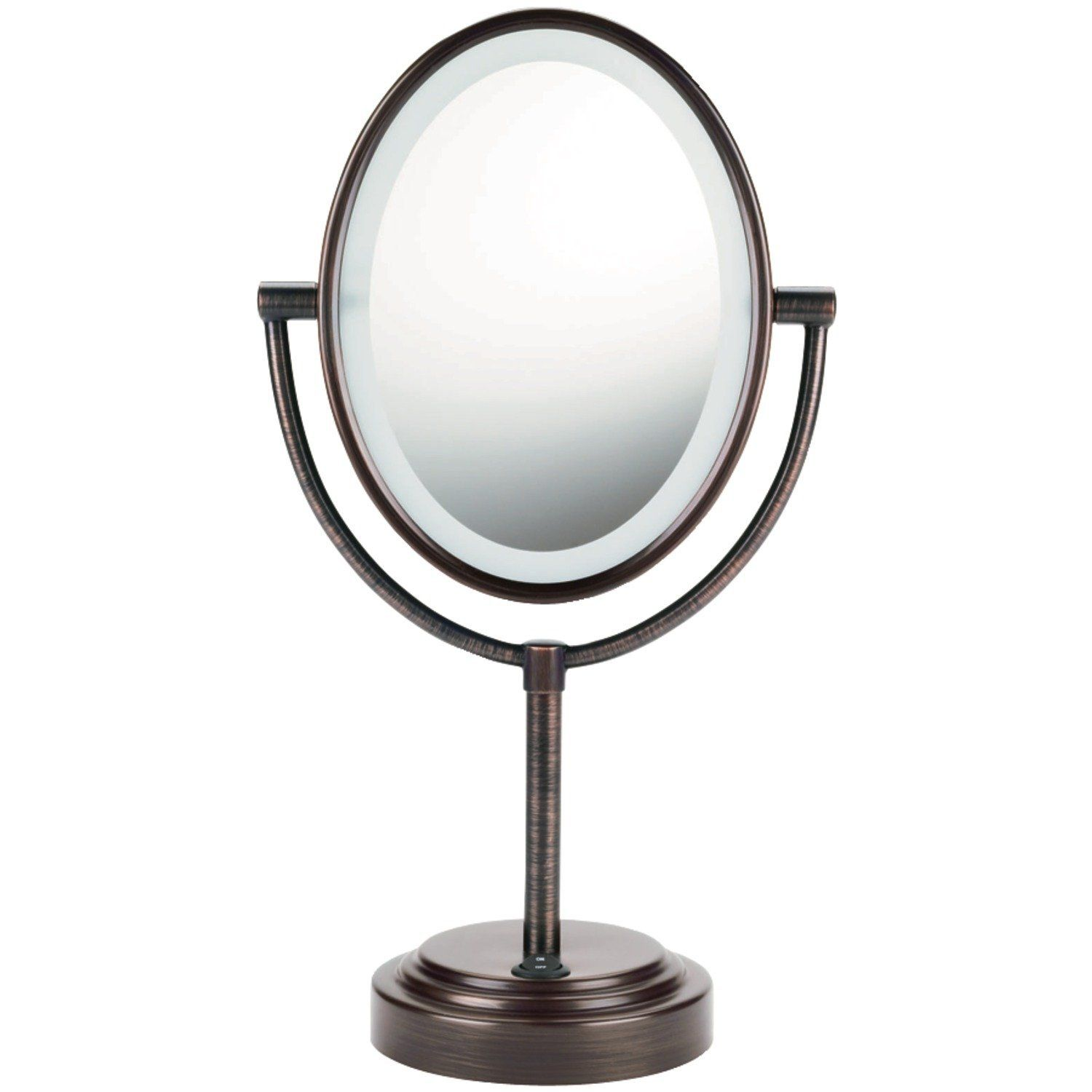 Conair Oval Double Sided Lighted Mirror Oiled Bronze