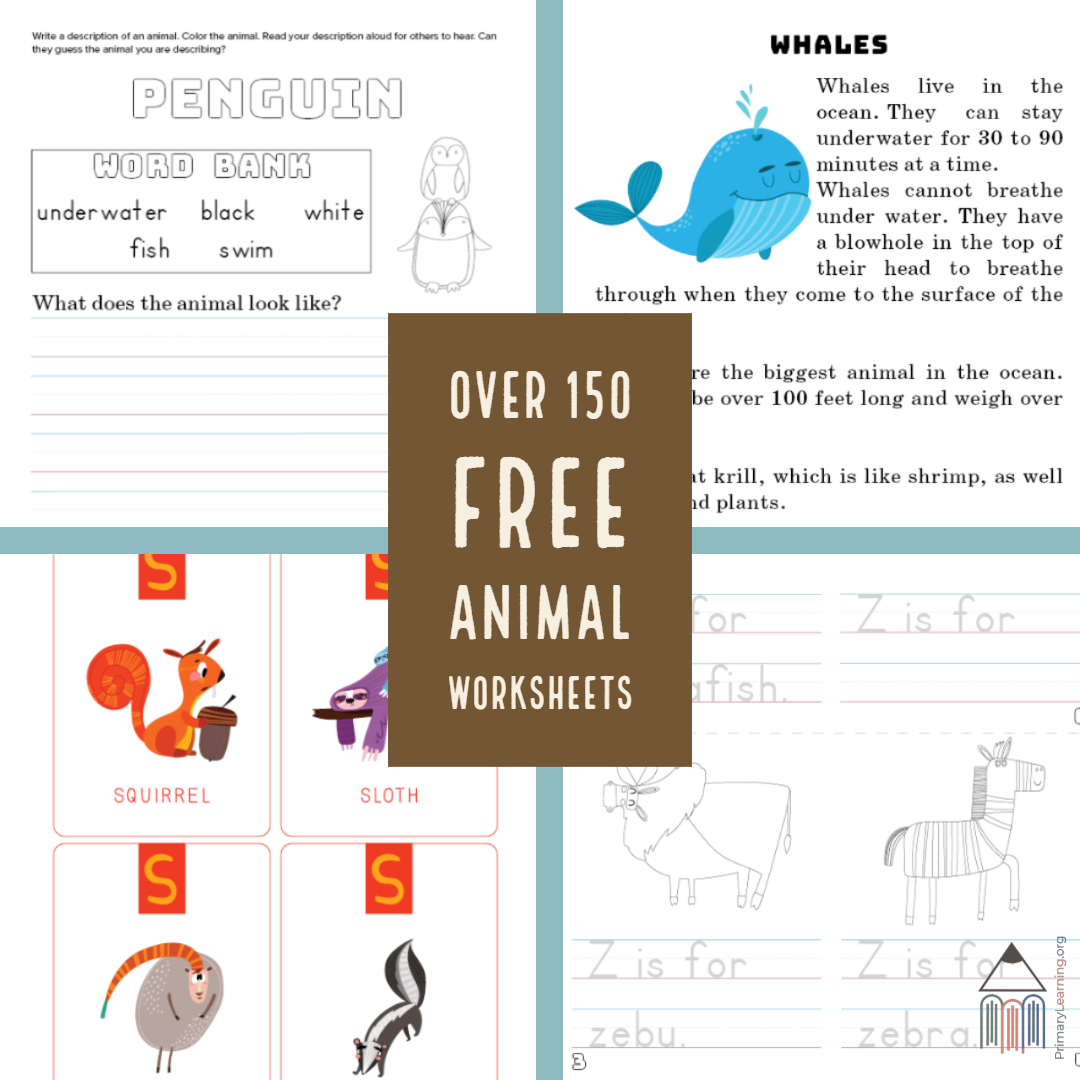 Over 150 Free Worksheets To Learn About Animals S
