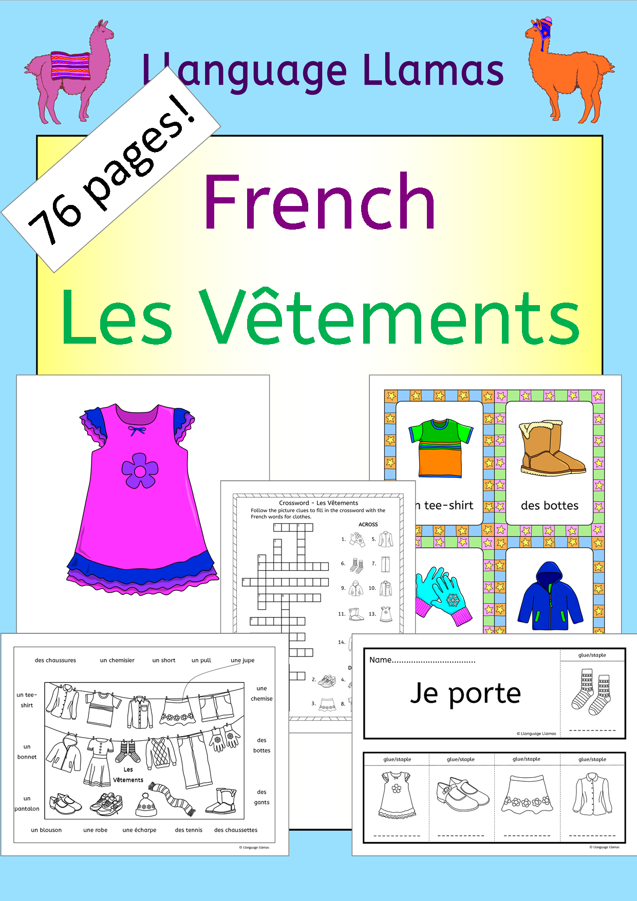 French Language Resource Developed By French Teachers French Clothes