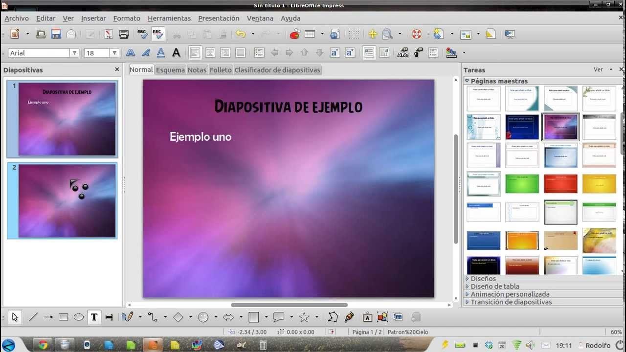 Patrón De Diapositivas En Libreoffice Impress Patron De Diapositivas Diapositivas Folletos