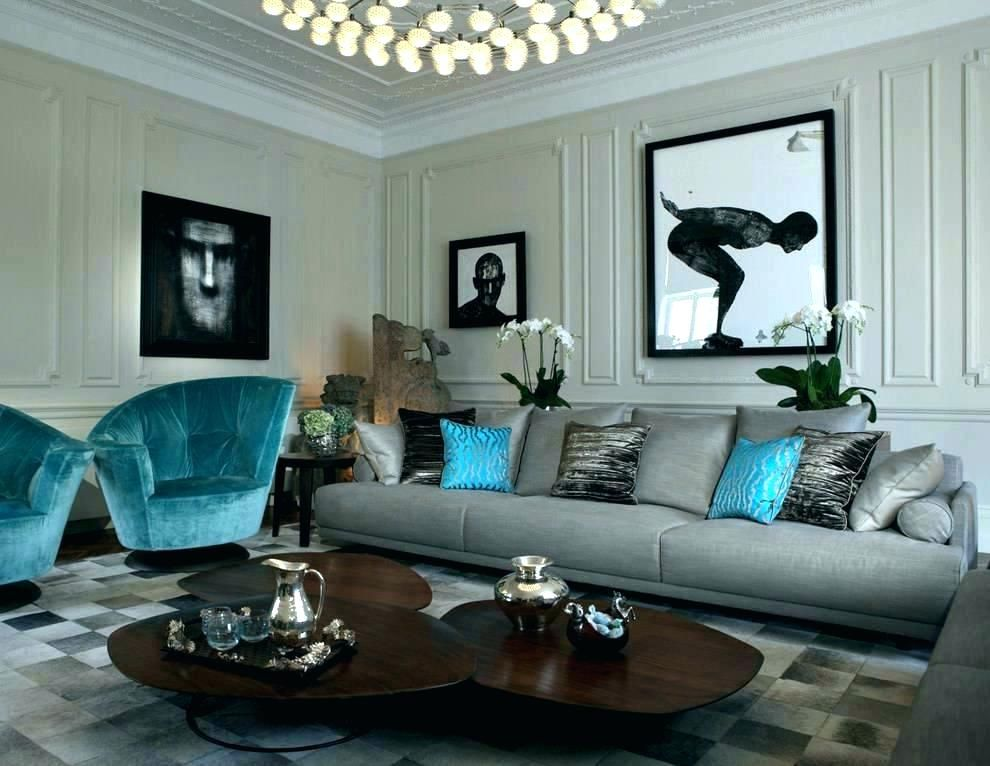 Image Result For Decor For Living Room Black Silver Blue Teal Living Rooms Living Room Turquoise Living Room Grey