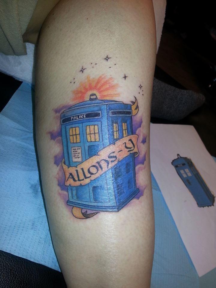 My tardis tattoo on my right calf allonsy