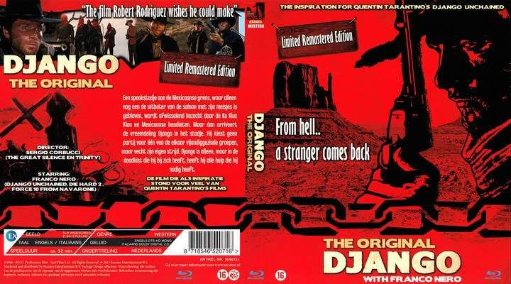 Django (1966) DUTCH R2 Blu Ray Front cover