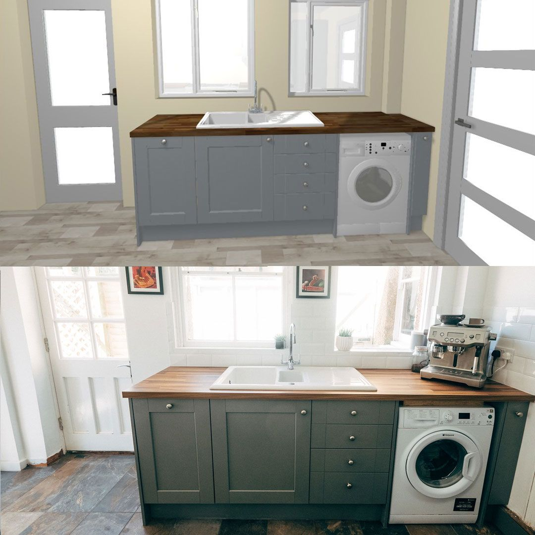 From design to reality. The Fairford Slate Grey Shaker kitchen range ...