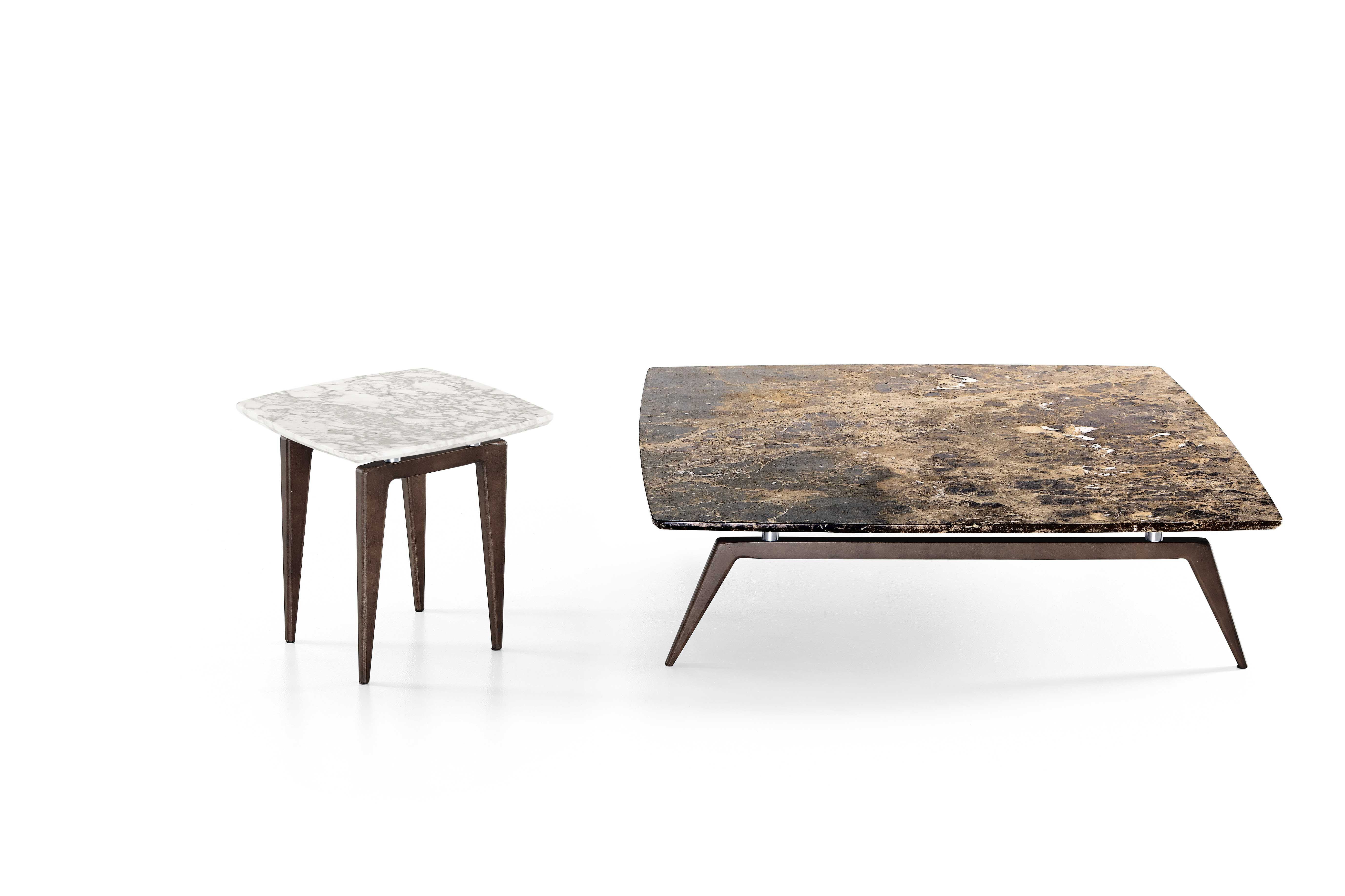 Small Table With Plane In Dark Emperor Marble Coffee Table 40x40