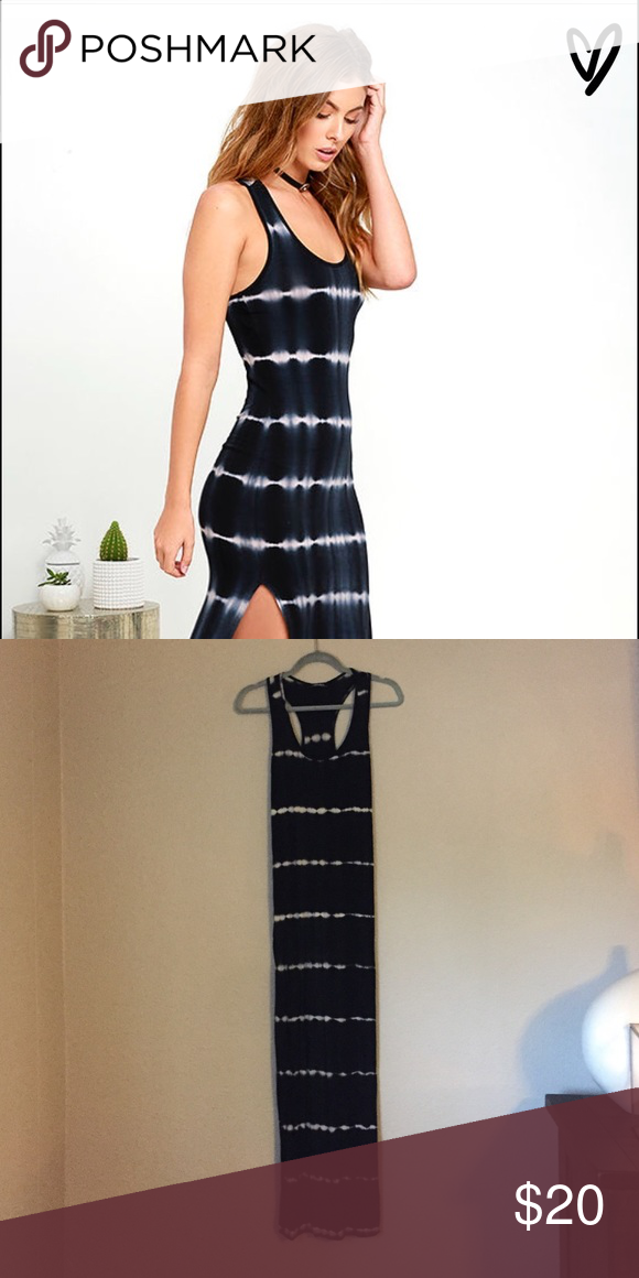 Lulu S Tie Dye Maxi Dress With Side Slits My Posh Picks Dresses