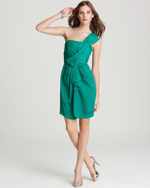 LOVE THIS. BCBGMAXAZRIA Dress - Palais One Shoulder Luxe Satin | My ...