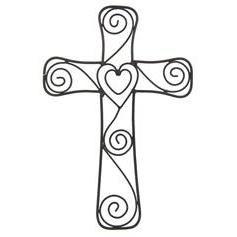 Hearts Swirls Wall Cross Cross Wall Art Cross Wall Decor
