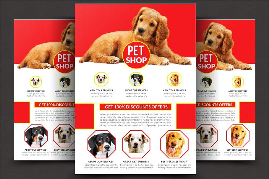 Pet shop flyer shoppettemplatesflyer flyer template