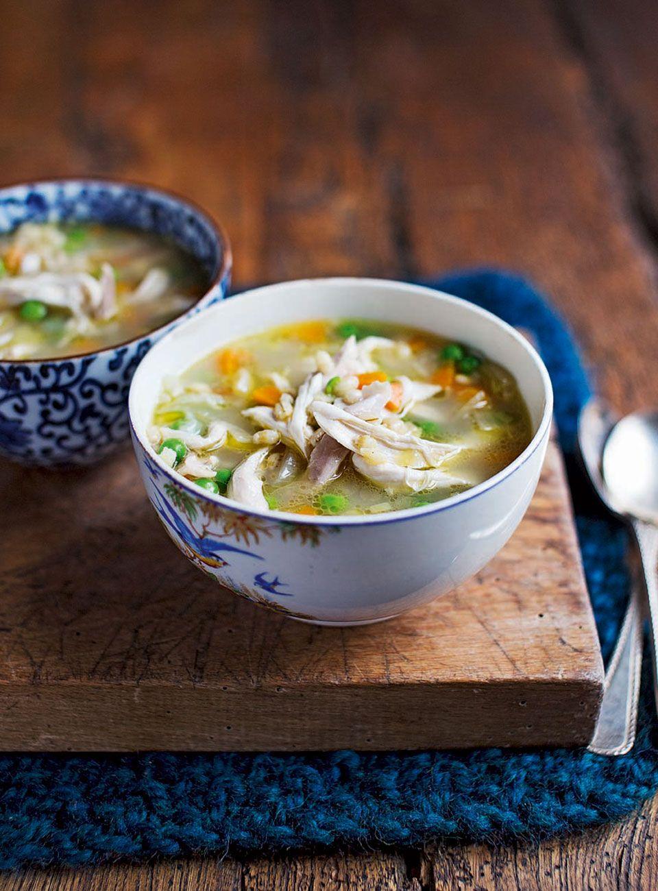 Chicken And Pearl Barley Broth Recipe Chicken Soup Recipes Chicken Veg Soup Veg Soup