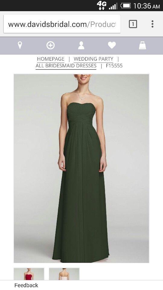 David S Bridal Tarragon Bridesmaid Dress