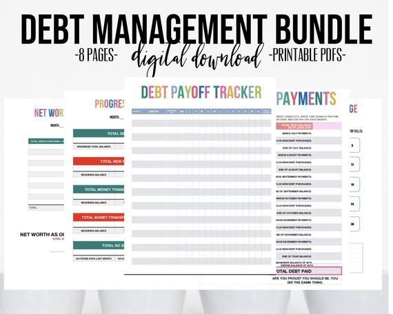 debt tracker printable bundle