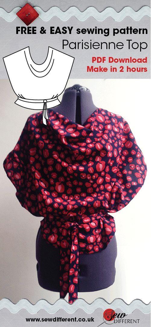Parisienne Top Free Sewing Pattern Tops Pinterest Sewing