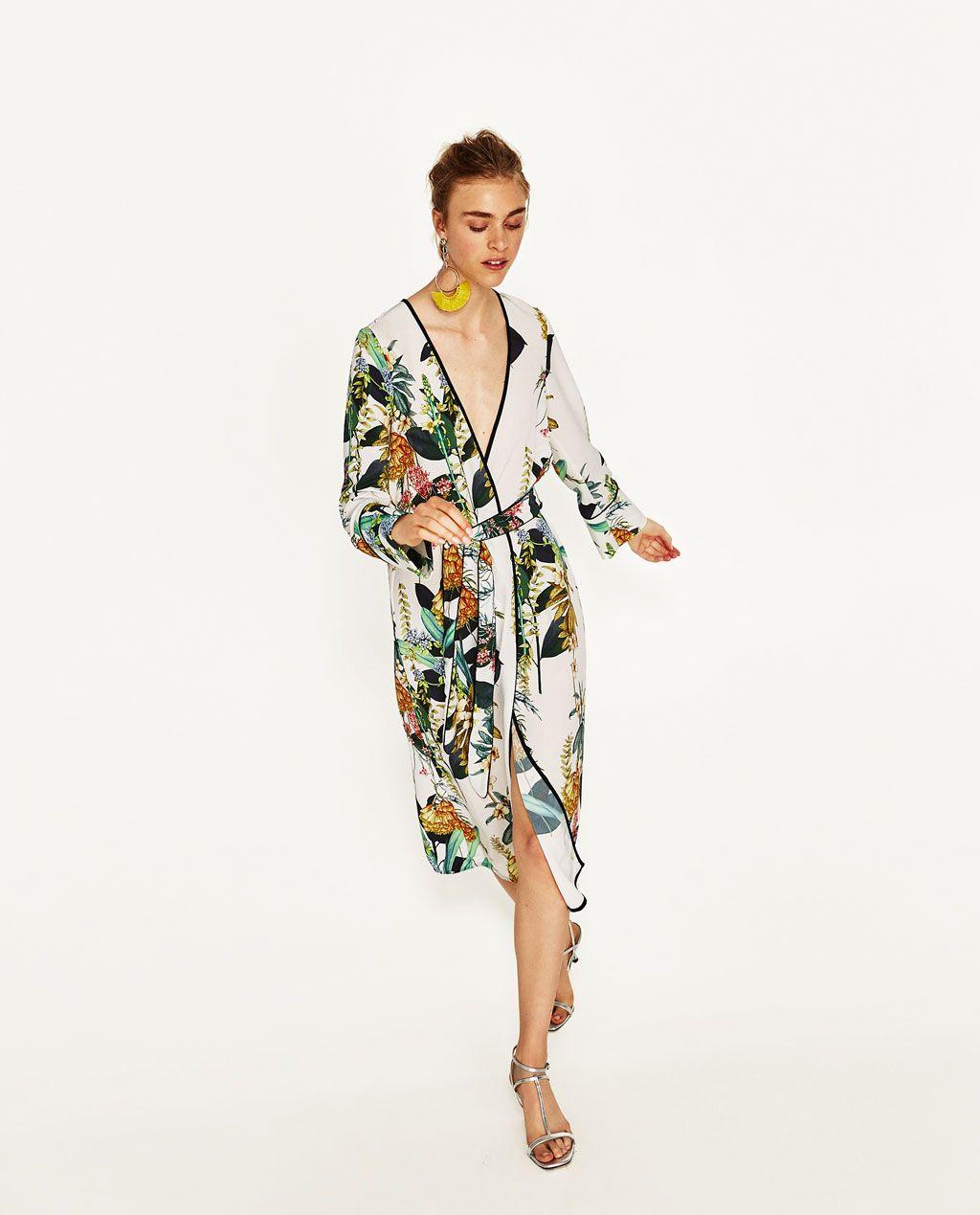 42e26a99544 LONG PRINTED KIMONO-DRESSES-WOMAN-COLLECTION AW/17 | ZARA United States