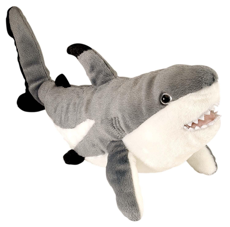 Amazon Com Wild Republic Cuddlekins 15 Black Tipped Shark Toys