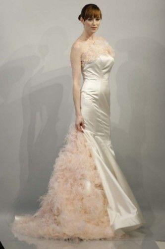 vestido de #noiva em rosa claro, da coleção primaveran2014 de #Theia #casarcomgosto