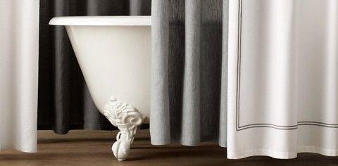 Cotton Linen Shower Curtains From Restoration Hardware