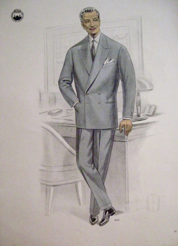b80cced7516 Vintage Russian Print of Men s Fashion - Business Grey Suit
