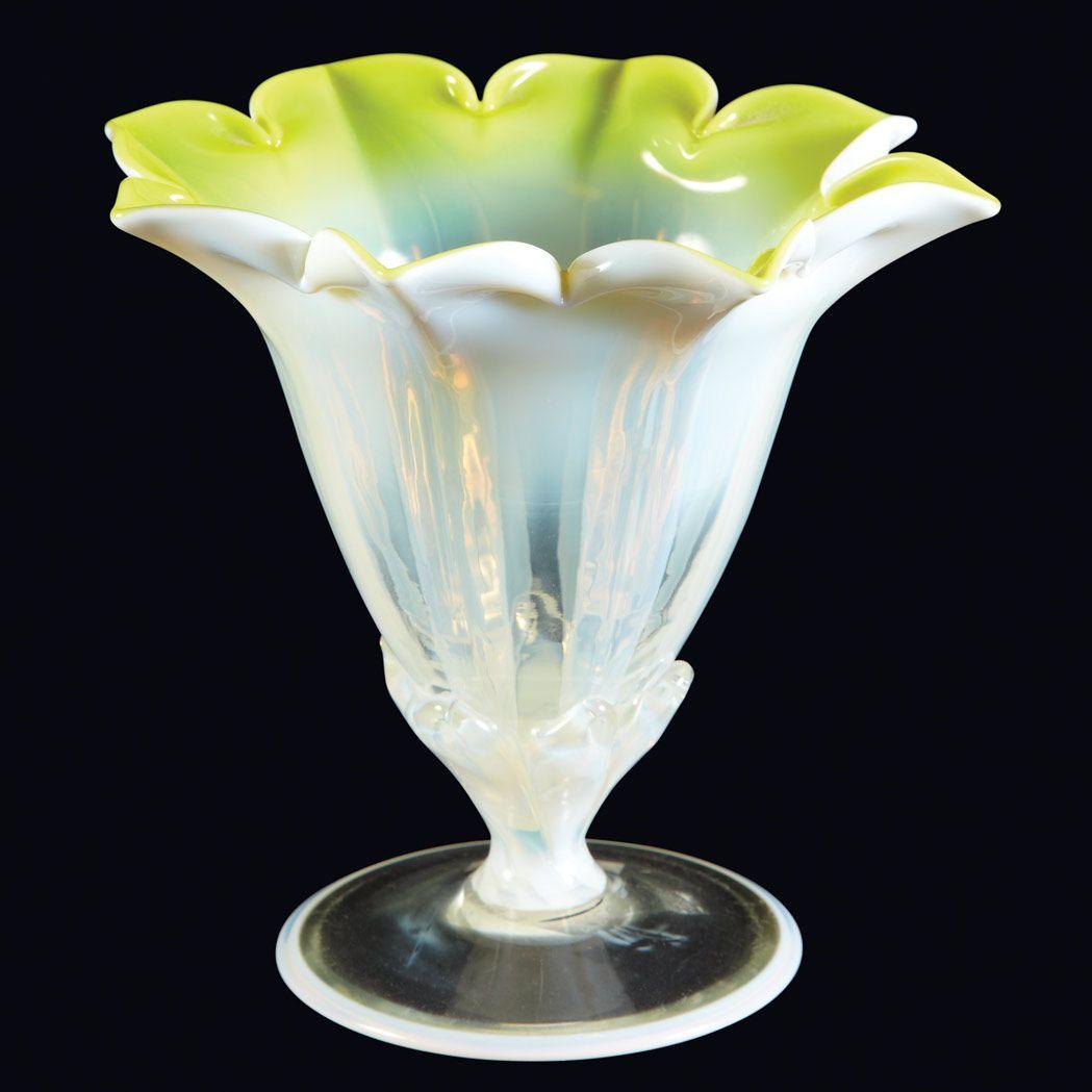 Louis C. Tiffany Furnaces Inc. Yellow Pastel Favrile Glass ...