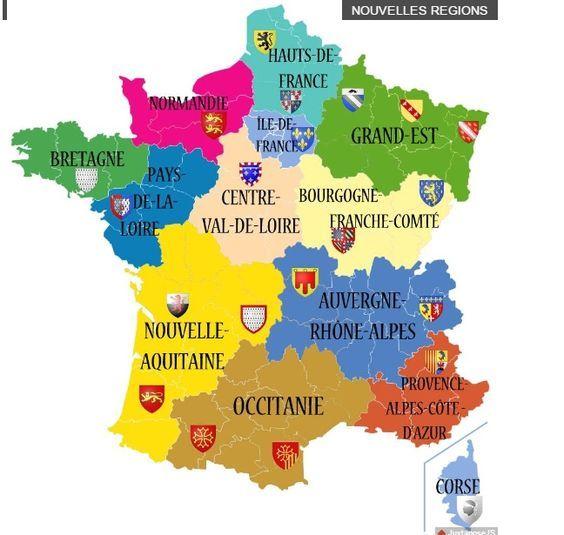 Resultado de imagen de les region françaises