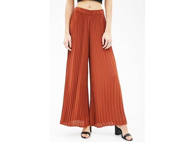 bd33649f53e586 Pantaloni a palazzo plissettati Forever21 | Moda nel 2019 ...