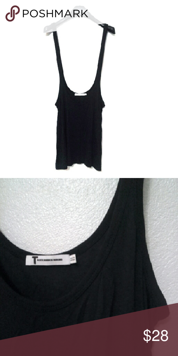 Alexander Wang black overall tank dress Super cute T by Alexander Wang tank dress. Layer over a t-shirt or longsleeve shirt. Size XS but can fit SM. Re-posh. Excellent condition. T by Alexander Wang Dresses Mini