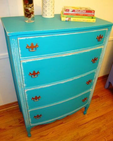 Craigslist Crushes Summer Guests Turquoise Dresser Colorful