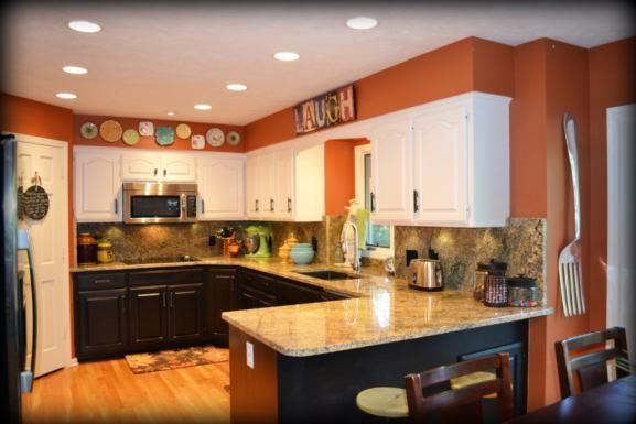 Orange kitchen! Interior Design and Decorating, Omaha, NE www