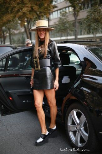 #annadellorusso #black #dress #robe #lanvin #necklace #women #fashion #belt #hat #chapeau #creepers #chic #skirt #top #couleurs #colors #ceinture #streetfashion #streetstyle #style #look #outfit #moda #fashion #mode #streetchic #streetstyle #street by #sophiemhabille