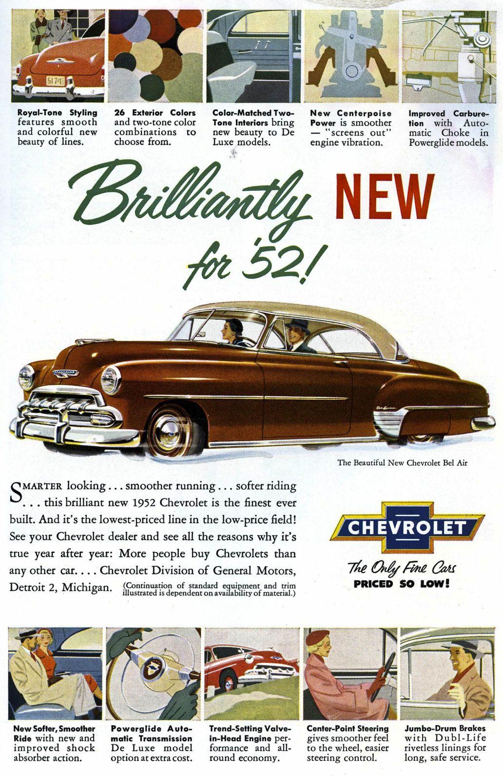 1952 Chevy Bel Air Two Door Hardtop Vintage cars 1950s