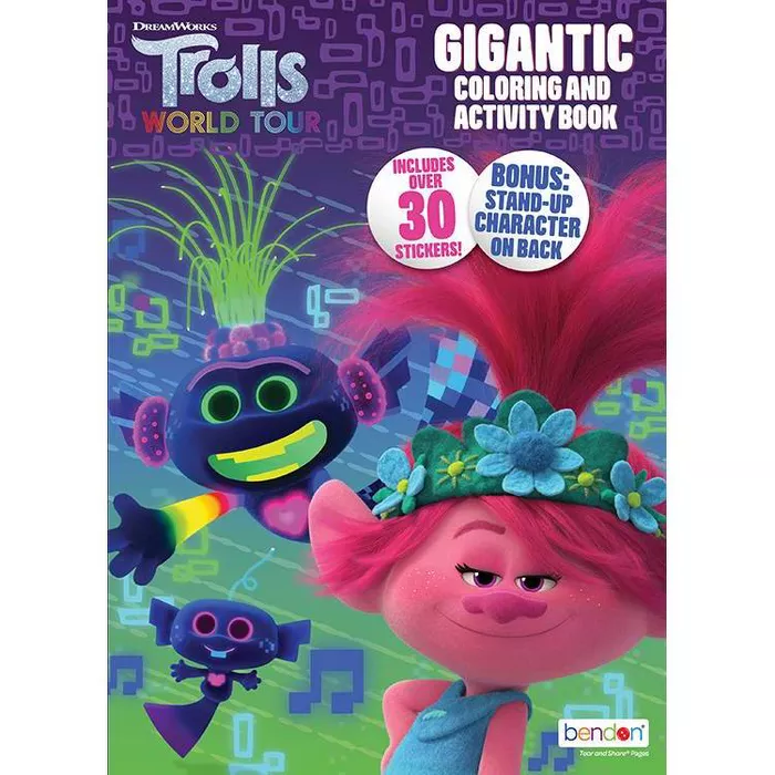 Trolls World Tour Gigantic Coloring Book Target Exclusive Edition Coloring Books Book Activities Toddler Gifts