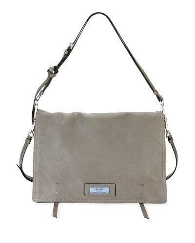 dc5c69b4bd87 Prada Etiquette Large Glace Calf Leather Shoulder Bag | Products ...