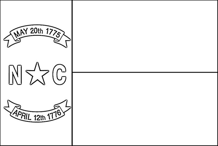North Carolina Flag Coloring Page Purple Kitty North Carolina Flag Flag Coloring Pages North Carolina State Flag