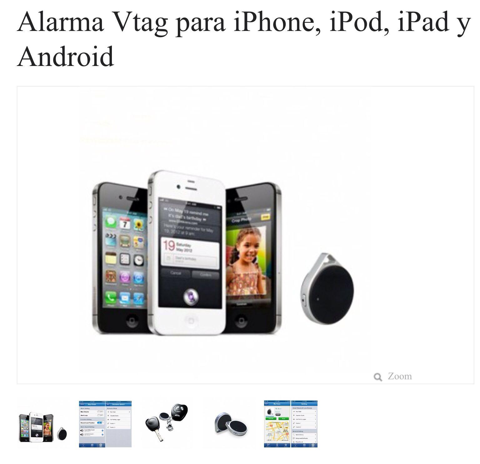 Alarma para poner en las cosas y que suene!  http://www.redlemon.com.mx/Alarma-antiperdidas-para-apple-y-android?range=200-500