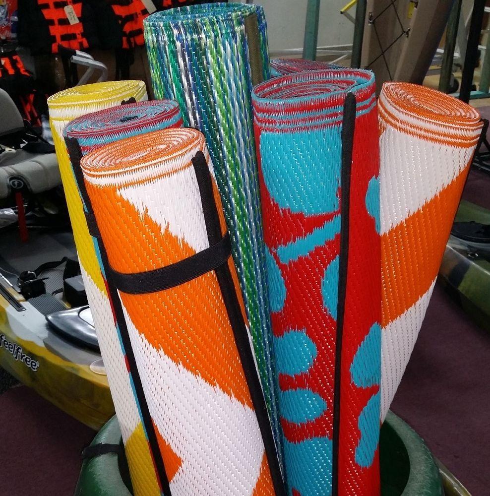 Woven Mat Camping Picnic Rug Plastic Waterproof Play